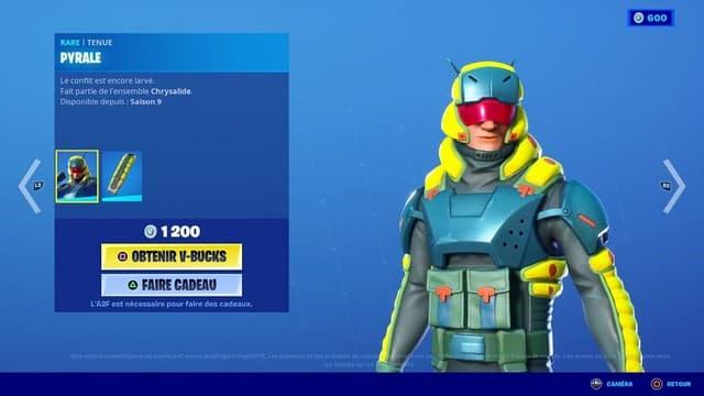 Fortnite: le pack Chrysalide fait son grand retour dans la boutique !