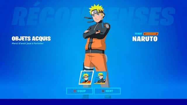 Fortnite saison 8: l'arrivée du skin Naruto dans le jeu se confirme !Fortnite saison 8: l'arrivée du skin Naruto dans le jeu se confirme !