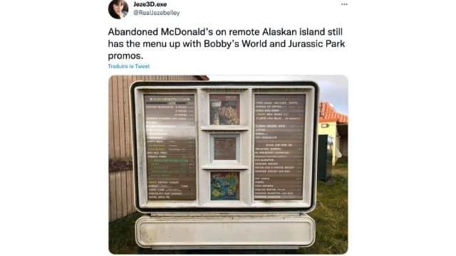 McDonald's des internautes découvrent un McDo sur une île en Alaska !