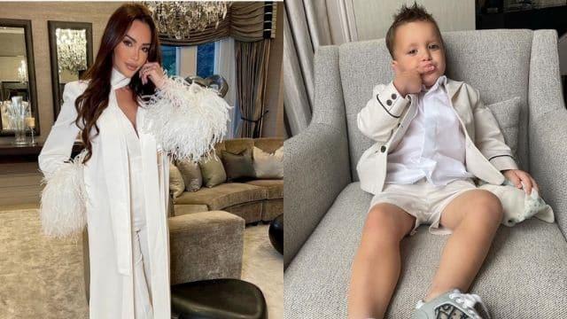 Nabilla super fan de la tenue de mariage de son fils Milann !