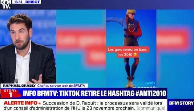 TikTok supprime enfin le hashtag #Anti2010 visant à harceler les 6e !