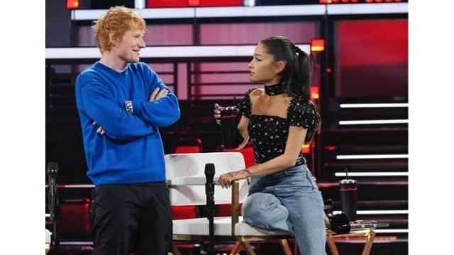 Ariana Grande et Ed Sheeran très proches sur le plateau de The Voice !