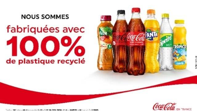 Coca-Cola va lancer des bouteilles 50cl en plastique 100% recyclé !