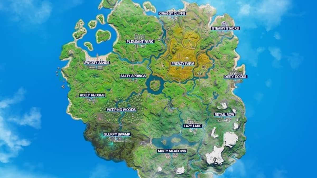 Fortnite: l'ancienne map du jeu de retour dans le chapitre 3 en 2022 ?