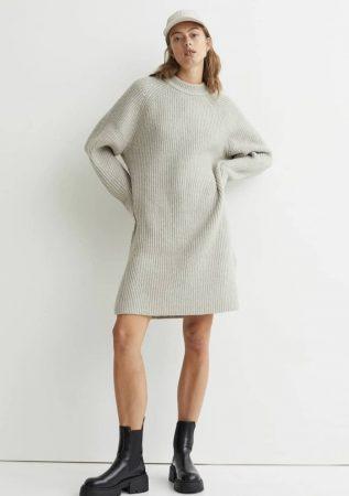 H&M: cette robe-pull en maille est indispensable pour la saison !
