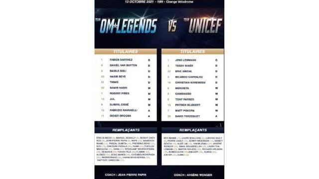 Jul avec SCH, Soso Maness et Naps dans l'équipe de foot OM Legends
