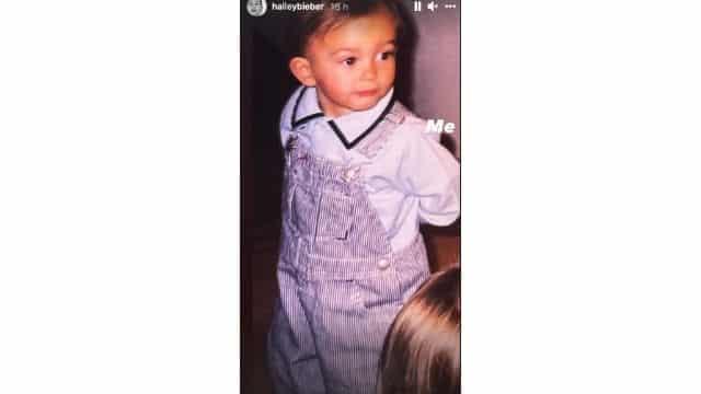 Justin Bieber Hailey Baldwin dévoile une adorable photo d'enfance !