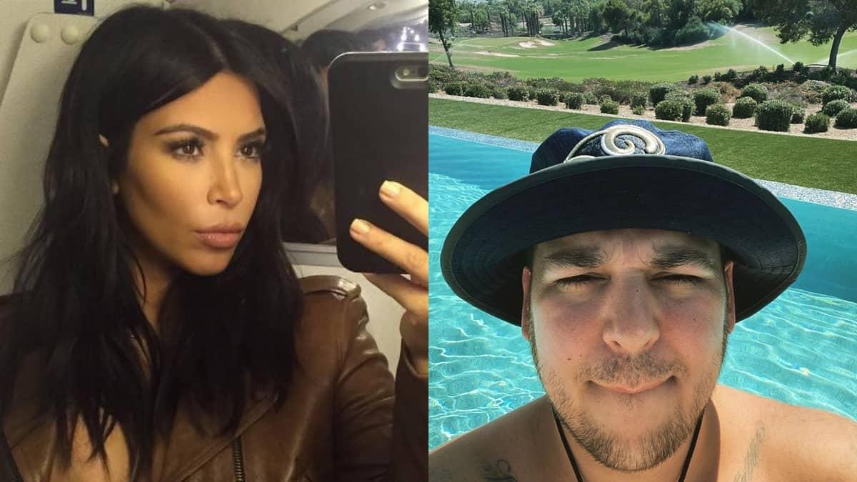 Kim Kardashian fière de retrouver son frère Rob Kardashian pour dîner !