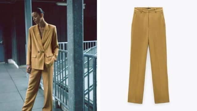 Zara sort son nouveau pantalon de costume large et ultra lumineux !